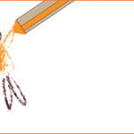 Drawing a human figure with a crayon