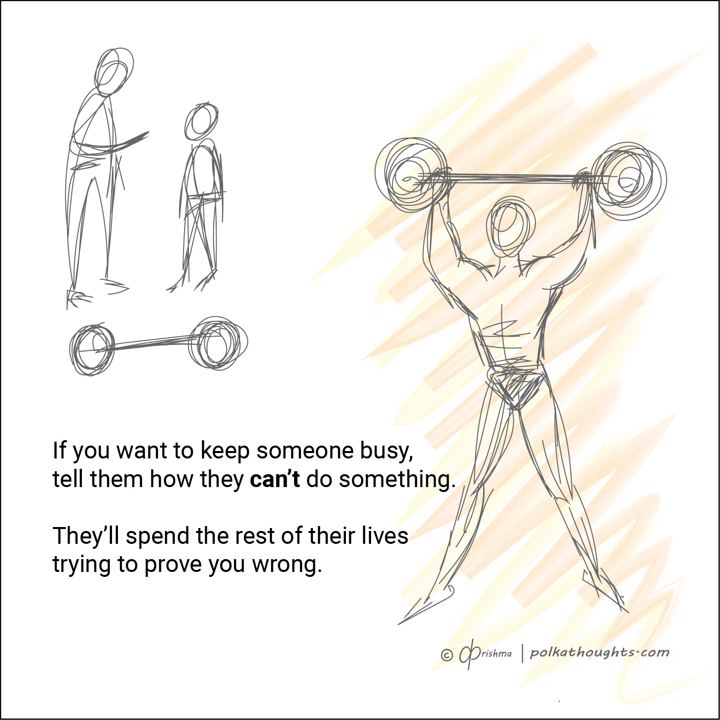 Illustration of a weight lifter